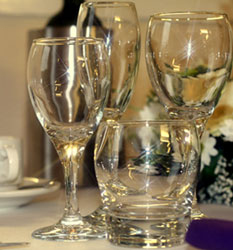 Glass hire : Friar Tucks Catering Equipment Hire