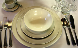 Quality crockery hire : Friar Tucks Catering Equipment Hire